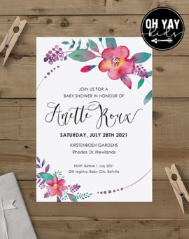 Floral baby shower 1